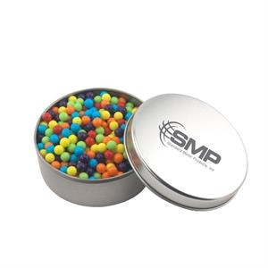 Large Round Metal Tin with Lid and Mini Jawbreakers