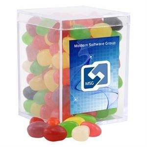 Jelly Beans Candy in a Clear Acrylic Square Box