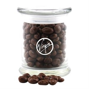 Large Round Glass Jar with Lid-Chocolate Covered Raisins