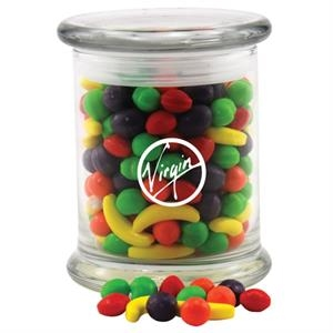 Runts Candy in a Large Round Glass Jar with Lid