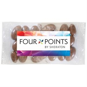 Large Bountiful Bag Full Color Label with Chocolate Almonds