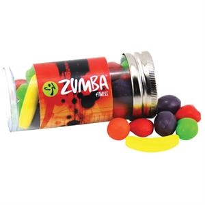 """Runts Candy in a 3 """" Plastic Tube with Metal Cap"""