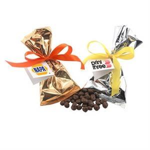 Chocolate Covered Raisins Favor/Mug Stuffer Bags with Ribbon