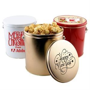 1 Gallon Gift Tin with Caramel Popcorn