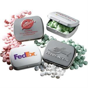Spearmint Mints in Embossed Pocket Mint Tin