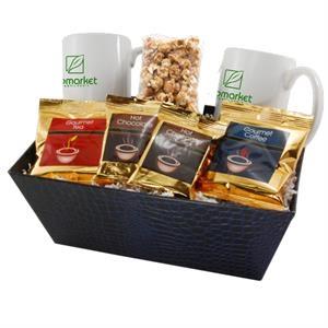 Tray with Mugs and Caramel Popcorn