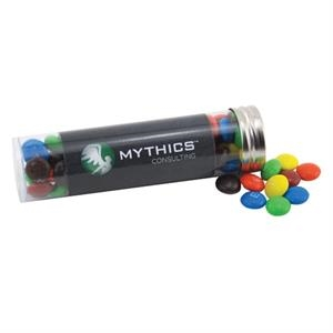 """Chocolates in a 5 """" Plastic Tube with Metal Cap"""