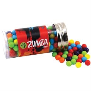 """Mini Jawbreakers Candy in a 3 """" Plastic Tube with Metal Cap"""