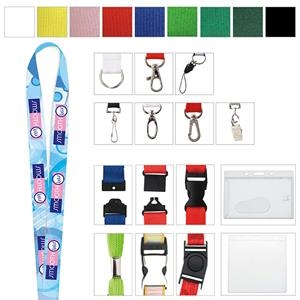 """3/4"""" Polyester 4 Color Lanyard"""