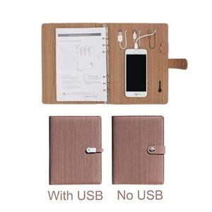 Multifunction Notebook With Power Bank And 8GB USB