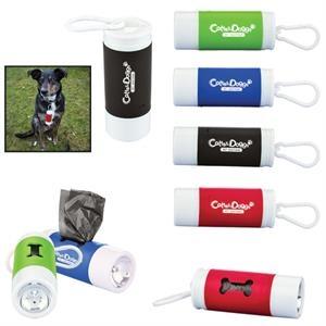 Pet Waste Disposal Bag Dispenser with Flashlight