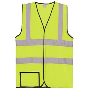 Dual Stripe S/M Yellow Mesh Safety Vest