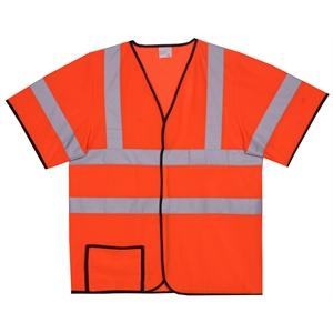 L/XL Orange Mesh Short Sleeve Safety Vest
