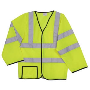 L/XL Yellow Mesh Long Sleeve Safety Vest