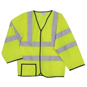 2XL/3XL Yellow Mesh Long Sleeve Safety Vest