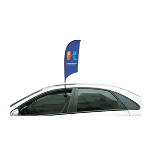 "36"" Blade Single Sided Stationary Car Flag"