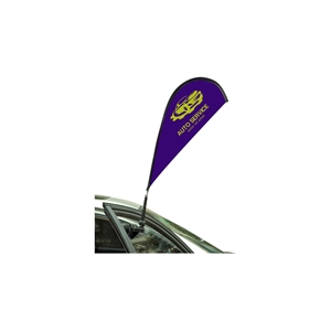 "33"" Teardrop Double Sided Stationary Car Flag"