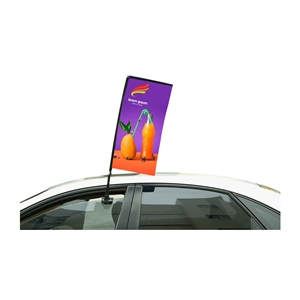 "33"" Rectangle Double Sided Stationary Car Flag"