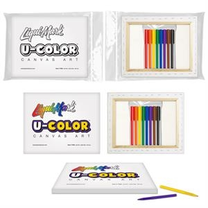 U-COLOR Canvas Art + 8 Color Marker Set