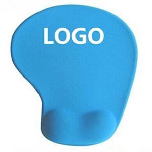 Oval Neoprene Mouse pad With Wrist Rest