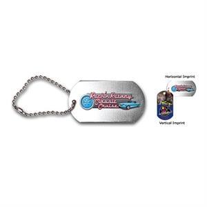 "Dog tag , 4-1/2\"" ball chain, FCD"
