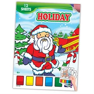 Holiday-Themed Watercolor Paint Books