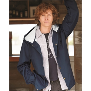 Independent Trading Co. Water-Resistant Hooded Windbreaker