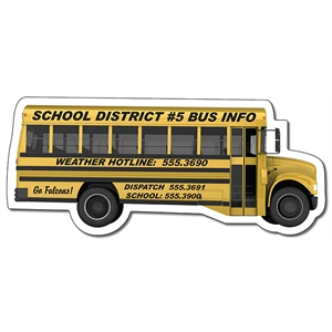 Magnet - School Bus Shape (4.88x2.1214) - 25 Mil.
