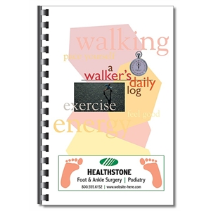 Health Information Book - A Walker's Daily Log (5.5x8.5)