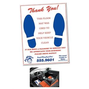 Auto Floor Mats - 16.75x21.75 - 50 lb. Offset Paper