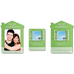 Magnet - House Shape Picture Frame (Approx. 4.3x6) - 25 Mil.