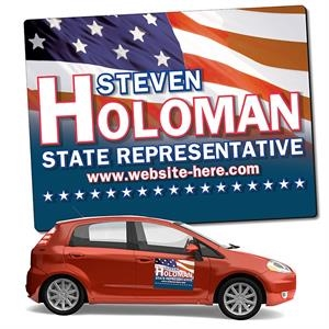 Political Magnetic Car/Truck/Auto/Vehicle Signs - 24x18 Roun