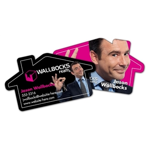 Extra-Thick UV-Coated (1S) House Shaped Paper Business Card