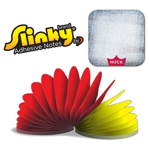 Slinky®Adhesive Notes - Square (Rounded Corners) - 50 Sh