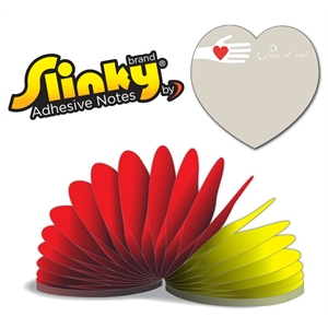 Slinky®Adhesive Notes - Heart Shape - 50 Sheets