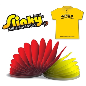 Slinky®Adhesive Notes - T-Shirt - 50 Sheets