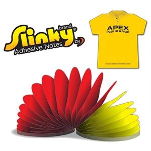 Slinky®Adhesive Notes - T-Shirt - 100 Sheets