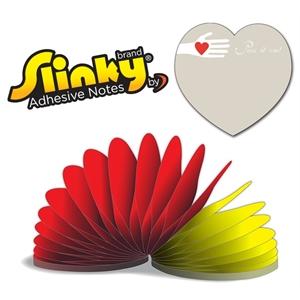 Slinky®Adhesive Notes - Heart Shape - 100 Sheets