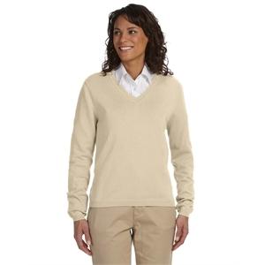Devon & Jones® Ladies' V-Neck Sweater