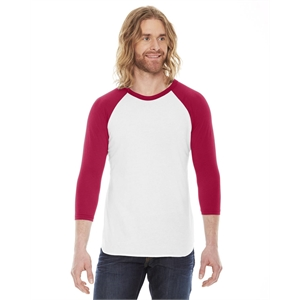 American Apparel® Unisex Poly-Cotton USA Made 3/4-Slee...