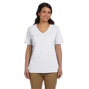Hanes® Ladies' 6.1 oz. Tagless®V-Neck T-Shirt