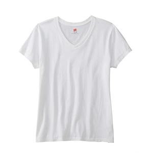 Hanes® Ladies' 4.5 oz., 100% Ringspun Cotton nano-T®...