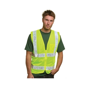 Bayside (R) Mesh Safety Vest - Lime