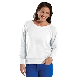 LAT® Ladies' Slouchy French Terry Pullover
