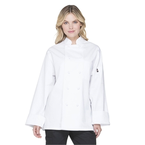 Unisex Classic Knot Button Chef Coat