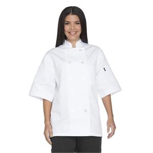 Unisex Classic 10 Button Short Sleeve Chef Coat