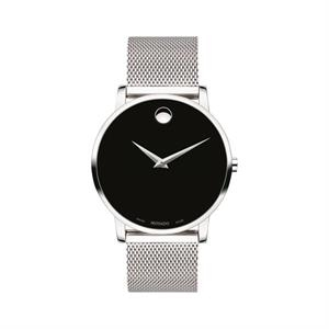 Movado Museum Classic Gents w/SS Case Black Dial