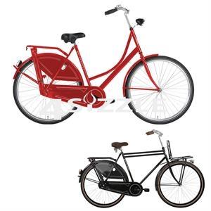 Classy European style frame with chain bike
