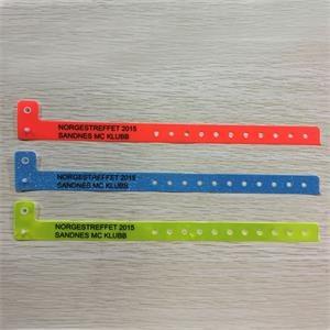 "10"" x 0.63"" Vinyl Security Wristband; SIlkscreened imprint"
