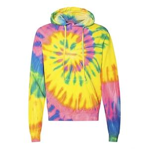 Dyenomite Multi-Color Spiral Pullover Hooded Sweatshirt